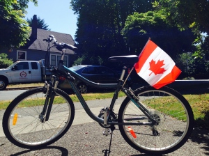 About canada flag bike